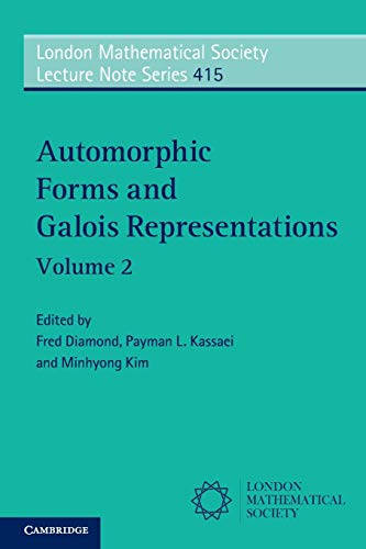 9781107693630: Automorphic Forms and Galois Representations: Volume 2 (London Mathematical Society Lecture Note Series)