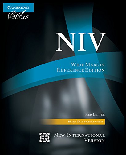 9781107694088: NIV Wide Margin Reference Bible, black calfsplit leather, red letter text NI744:XRM