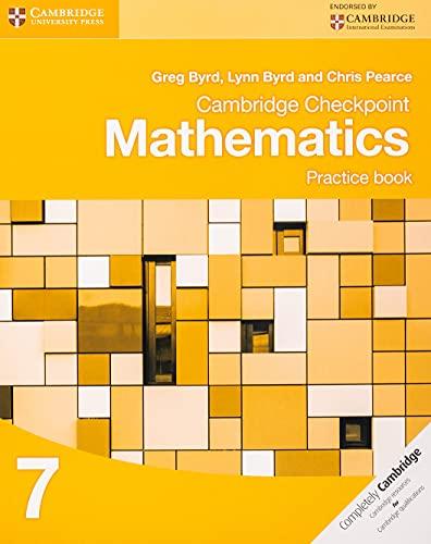 9781107695405: Cambridge Checkpoint Mathematics. Practice Book Stage 7. Per le Scuole superiori