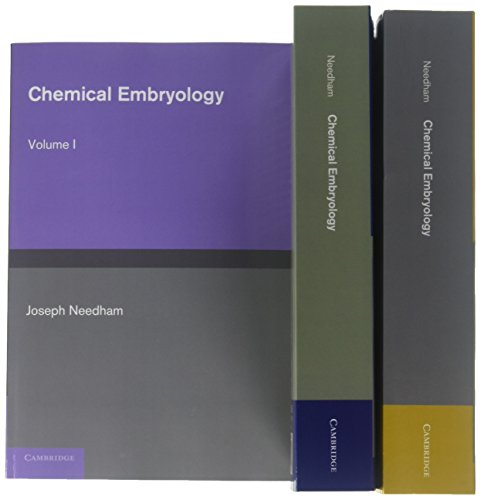 9781107695757: Chemical Embryology 3 Volume Set