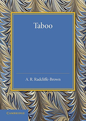 9781107695795: Taboo: The Frazer Lecture 1939