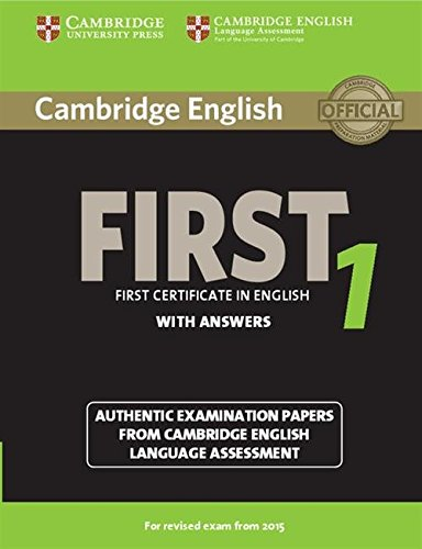 9781107695917: Cambridge English First 1 for Revised Exam from 2015 Student's Book with Answers (FCE Practice Tests)