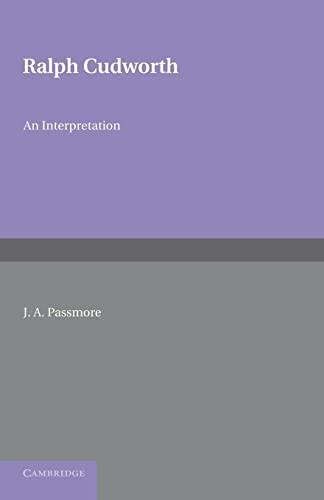Ralph Cudworth: J. A. PASSMORE