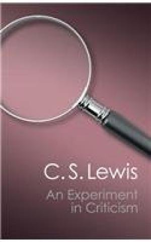 9781107698543: An Experiment in Criticism (Canto Classics)