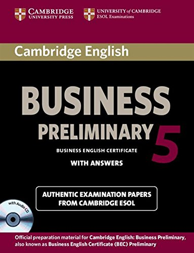 9781107699335: Cambridge English Business 5 Preliminary Self-study Pack (Student's Book with Answers and Audio CD)