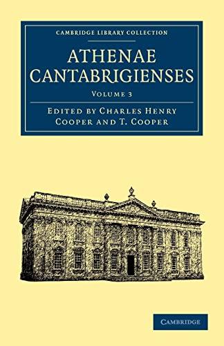 Athenae Cantabrigienses (Paperback)
