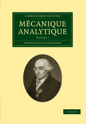 9781108001755: Mecanique analytique, volume 1