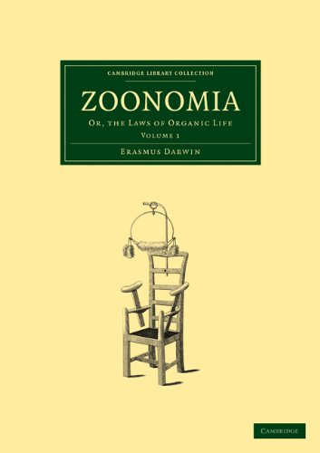 9781108005494: Zoonomia: Volume 1: Or, the Laws of Organic Life