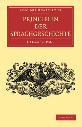 9781108006194: Principien der Sprachgeschichte Paperback (Cambridge Library Collection - Linguistics)