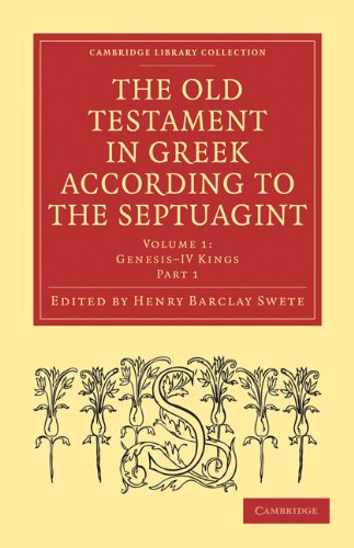 The Old Testament in Greek According to the Septuagint 3 Volume Paperback Set: Henry Barclay Swete