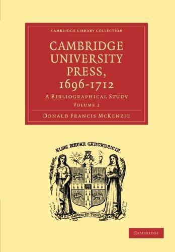 9781108007757: Cambridge University Press, 1696-1712: A Bibliographical Study