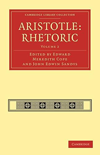 9781108009669: 2: Aristotle: Rhetoric (Cambridge Library Collection - Classics)