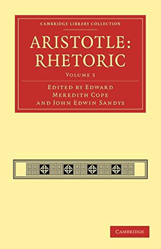 9781108009676: Aristotle: Rhetoric (Cambridge Library Collection - Classics)