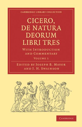 9781108011006: Cicero, De Natura Deorum Libri Tres 3 Volume Paperback Set: With Introduction and Commentary (Cambridge Library Collection - Classics) (Latin Edition)