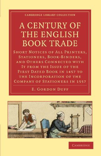 A Century of the English Book Trade: E. GORDON DUFF