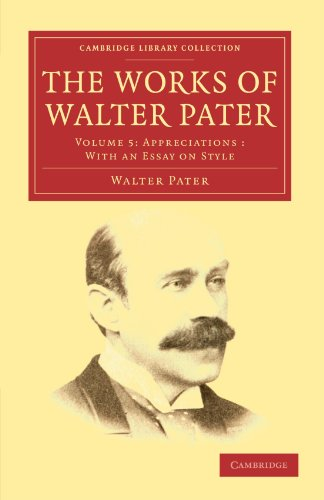essays from the guardian walter pater Essays from the guardian [walter pater] on amazoncom free shipping on qualifying offers this work has been selected by scholars as being culturally important.