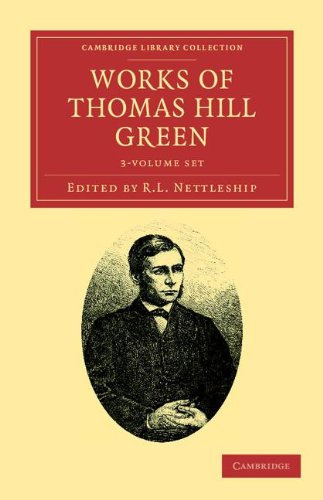 9781108036832: Works of Thomas Hill Green 3 Volume Set (Cambridge Library Collection - Philosophy)