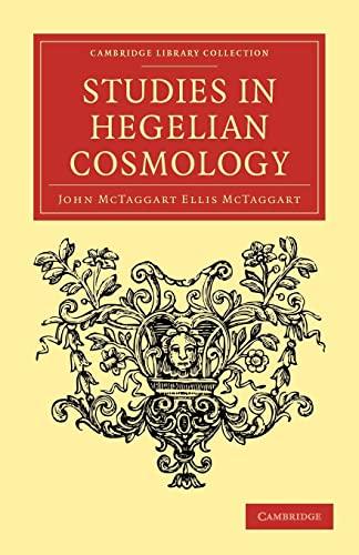 9781108037945: Studies In Hegelian Cosmology