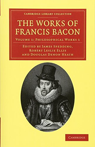 9781108040648: The Works of Francis Bacon (Cambridge Library Collection - Philosophy) (Volume 1) (English and Latin Edition)