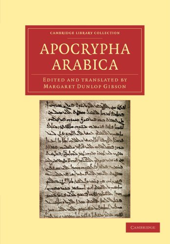 9781108043472: Apocrypha Arabica (Cambridge Library Collection - Biblical Studies)