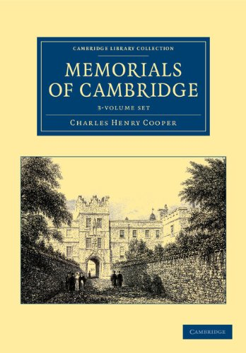 Memorials of Cambridge - 3 Volume Set (Hardcover): Charles Henry Cooper