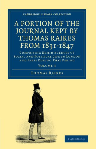 A Portion of the Journal Kept by: Raikes, Thomas