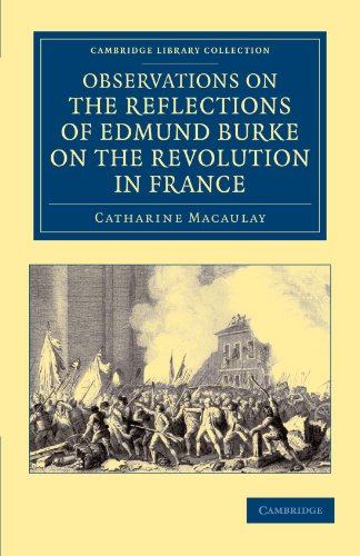 9781108045407: Observations on the Reflections of the Right Hon. Edmund Burke, on the Revolution in France: In a Letter to the Right Hon. the Earl of Stanhope (Cambridge Library Collection - European History)