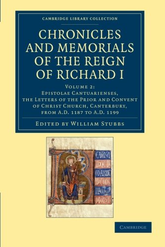 9781108048064: Chronicles and Memorials of the Reign of Richard I (Cambridge Library Collection - Rolls) (Volume 2)