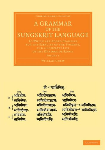 9781108055963: A Grammar of the Sungskrit Language: To Which Are Added Examples for the Exercise of the Student, and a Complete List of the Dhatoos or Roots ... from the Royal Asiatic Society) (Volume 1)