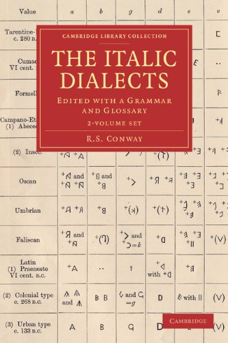 9781108061179: The Italic Dialects 2 Volume Set: Edited with a Grammar and Glossary (Cambridge Library Collection - Classics)