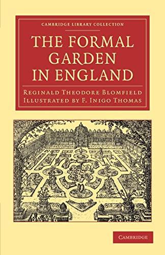 9781108061407: The Formal Garden in England