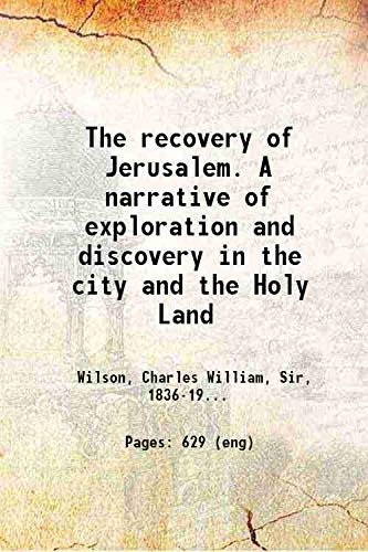 9781108080699: The Recovery of Jerusalem: A Narrative of Exploration and Discovery in the City and the Holy Land (Cambridge Library Collection - Archaeology)