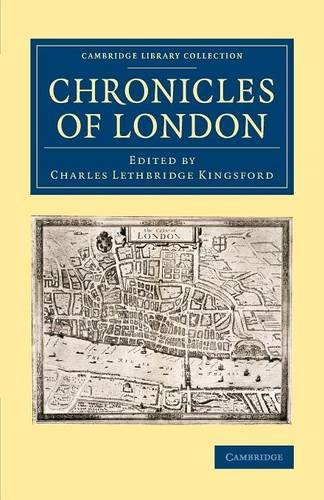 9781108082167: Chronicles of London