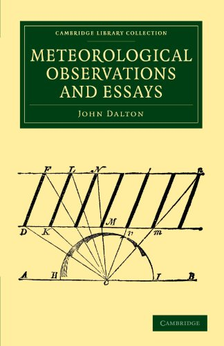 Meteorological Observations and Essays (Cambridge Library Collection: Dalton, John