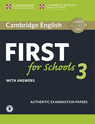 9781108380850: First for Schools 3. Practice Tests with Answers and Audio.