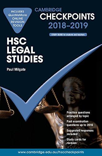 Cambridge Checkpoints HSC Legal Studies 2018-19 and: Paul Milgate