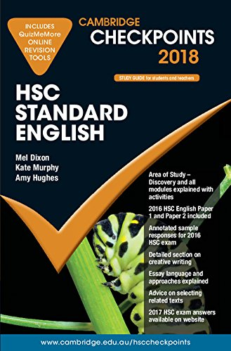 Cambridge Checkpoints Hsc Standard English 2018 and: Mel Dixon