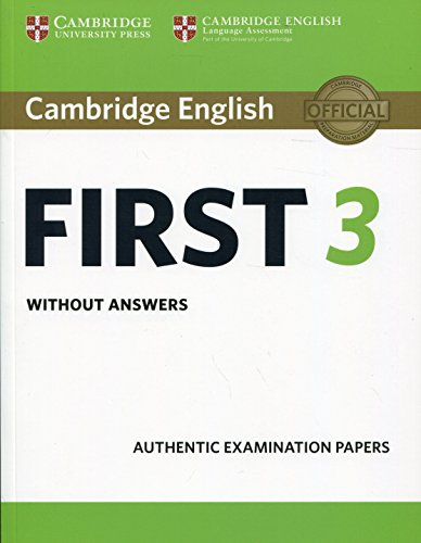9781108433723: Cambridge English First 3 Student's Book without Answers