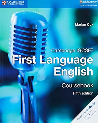 9781108438889: Cambridge IGCSE® First Language English Coursebook [Lingua inglese]