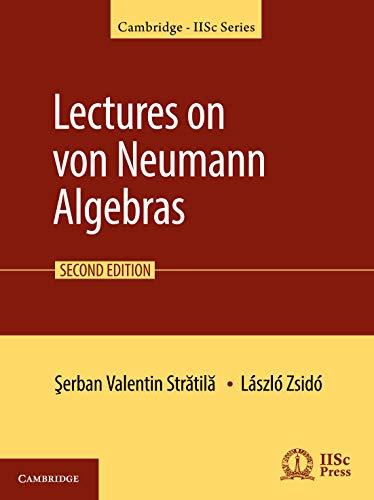 9781108496841: Lectures on von Neumann Algebras