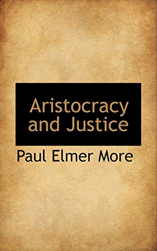 9781110008032: Aristocracy and Justice