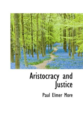 9781110008056: Aristocracy and Justice