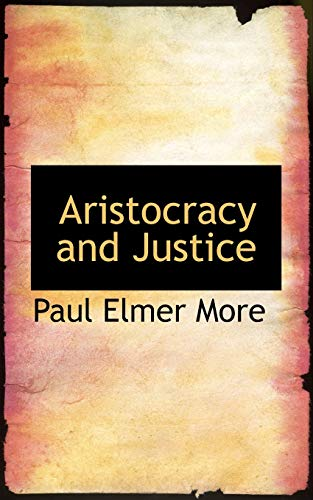 9781110009848: Aristocracy and Justice