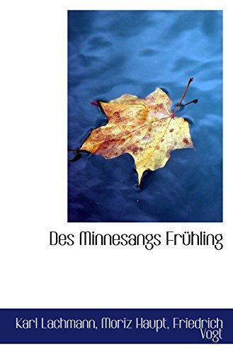 9781110036004: Des Minnesangs Frühling