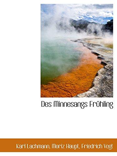9781110036011: Des Minnesangs Frühling