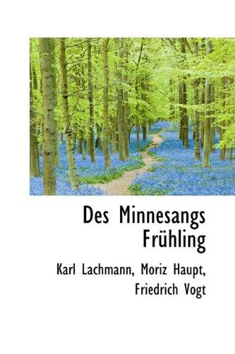 9781110036066: Des Minnesangs Frühling