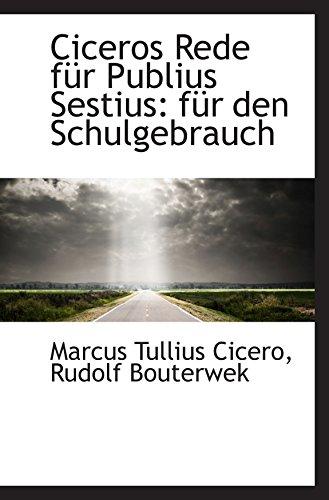 9781110105229: Ciceros Rede für Publius Sestius: für den Schulgebrauch