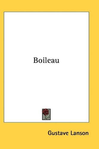9781110146338 - Lanson, Gustave: Boileau - Livre