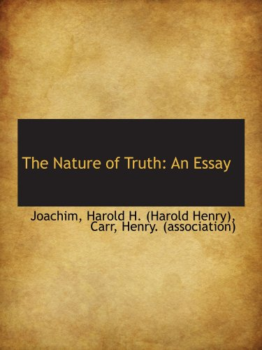 9781110310838: The Nature of Truth: An Essay