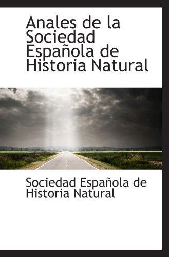 9781110316731: Anales de la Sociedad Española de Historia Natural